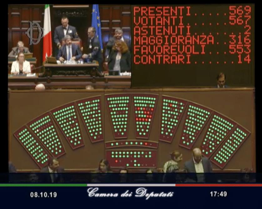 La camera dei deputati approva la riforma sul taglio dei for Numero membri camera dei deputati