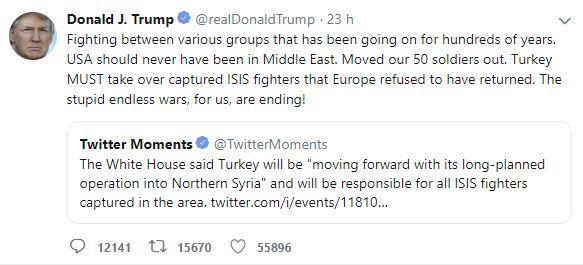trump erdogan turchia siria