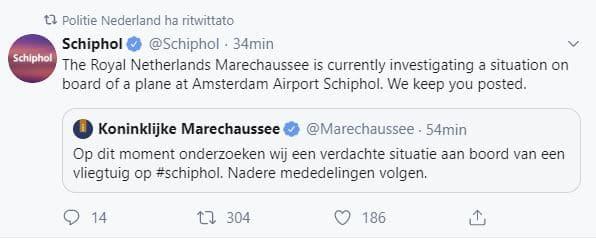 amsterdam allarme aeroporto