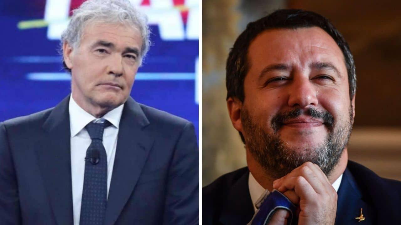 Non è l'Arena, Giletti saluta la figlia di Salvini, sui social è polemica: