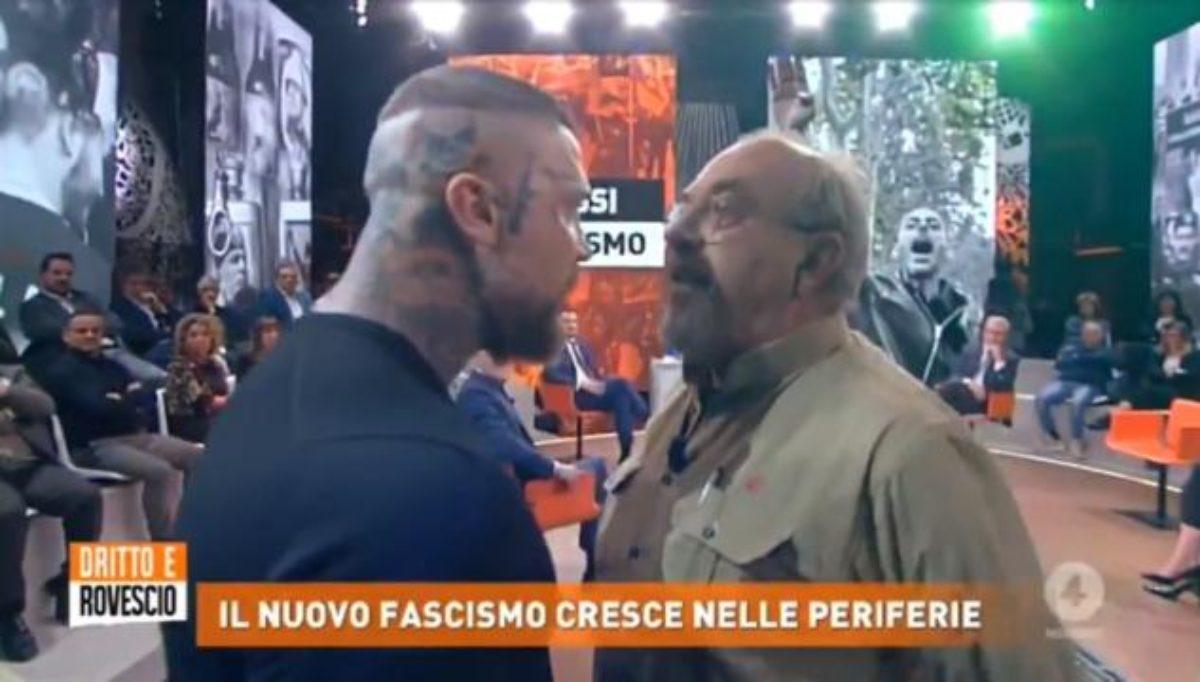 Vauro contro un neofascista, rissa sfiorata in tv
