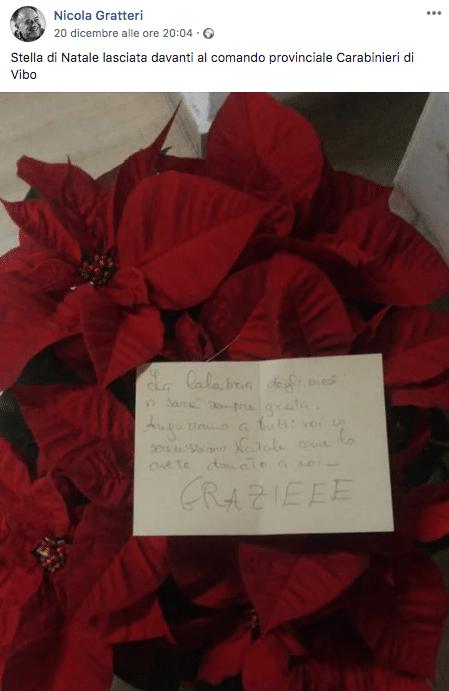 ringraziamenti carabinieri blitz 'Ndrangheta
