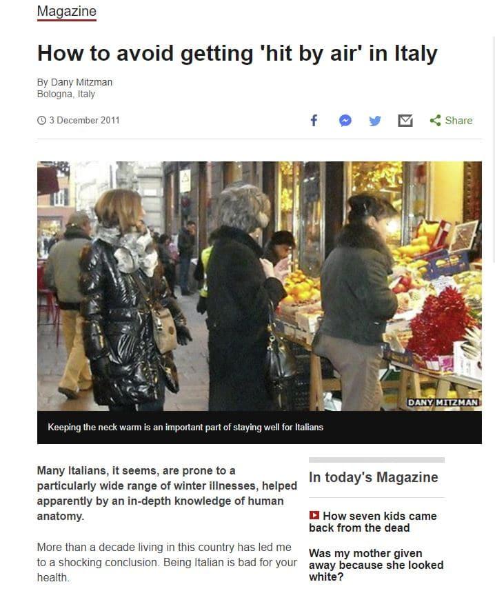 bbc prende in giro italia