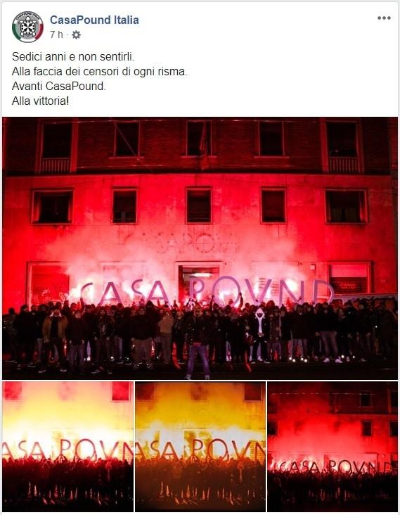 casapound scritta roma