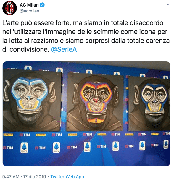 scimmie lega serie a