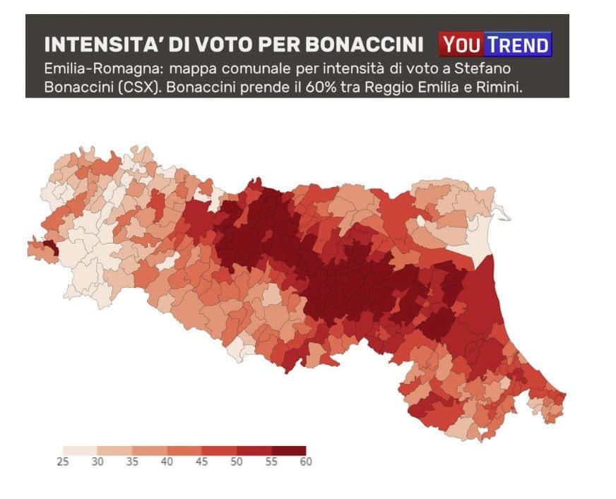 elezioni emilia romagna mappa