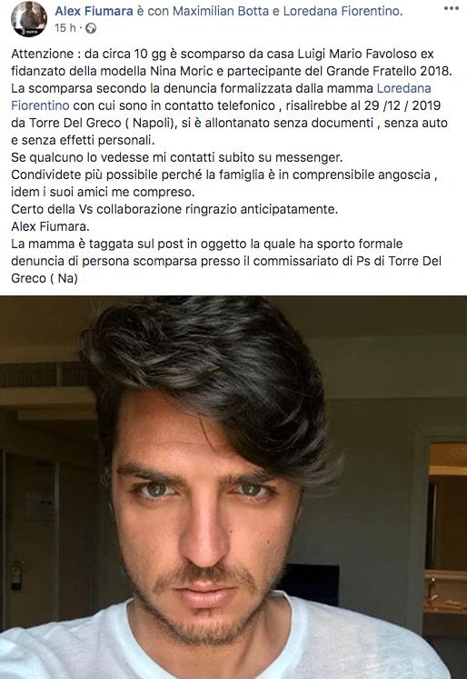 ex fidanzato nina moric scomparso