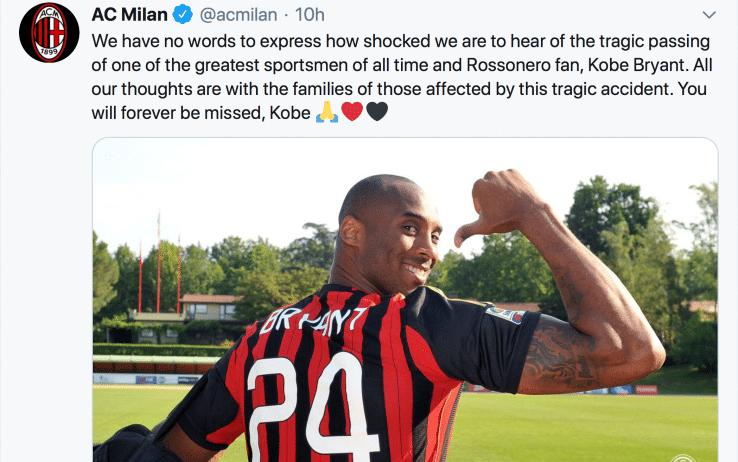 """Kobe Bryant e l'amore per l'Italia: """"Il posto del mio cuore"""""""