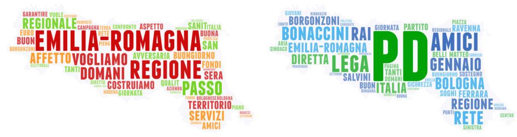 Bonaccini Borgonzoni social