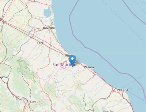 Terremoto oggi: scossa in provincia di Rimini