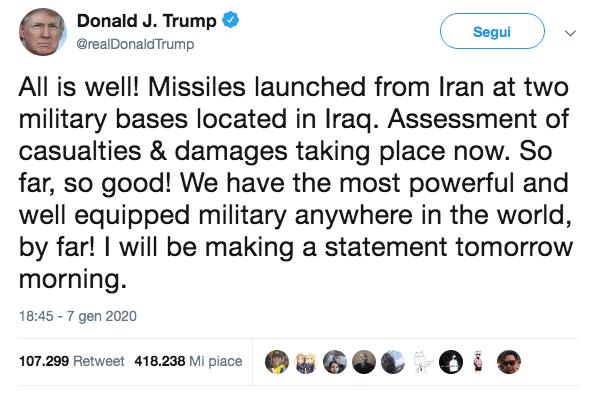 trump iran twitter