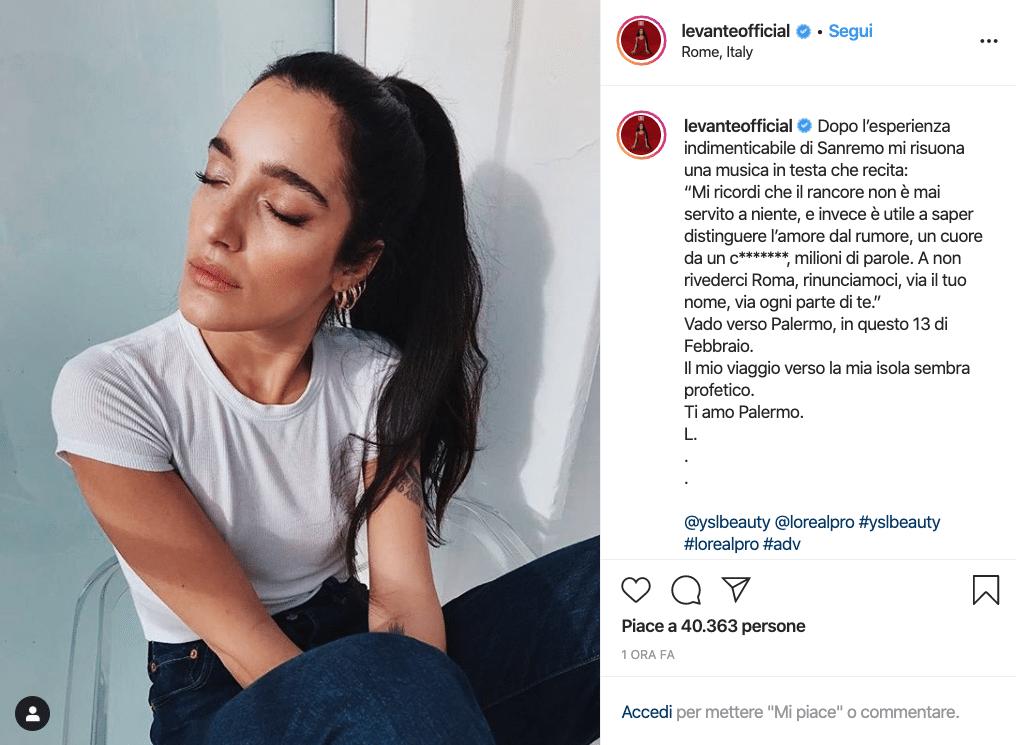 levante post instagram diodato