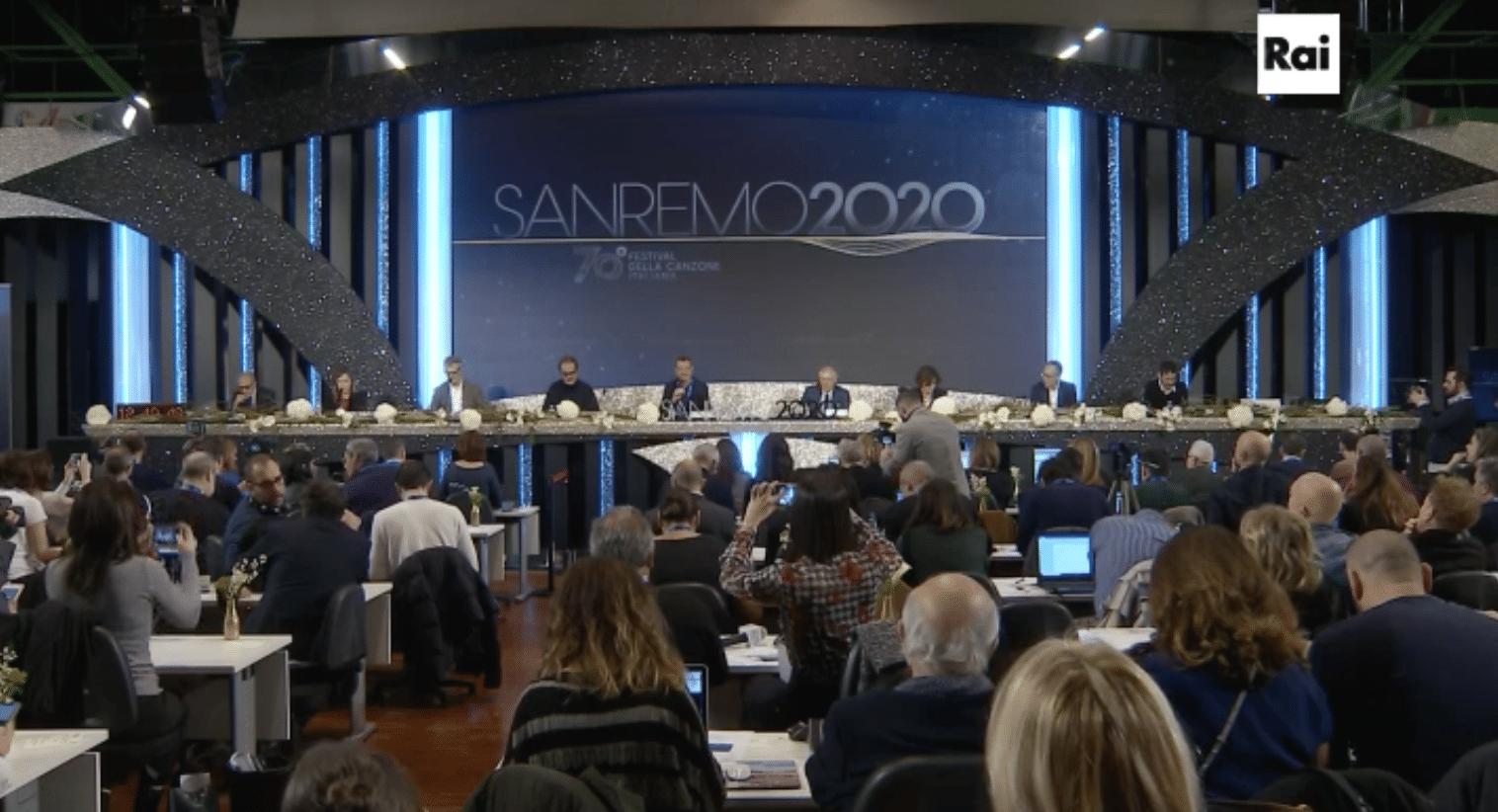Sanremo 2020 conferenza stampa diretta live