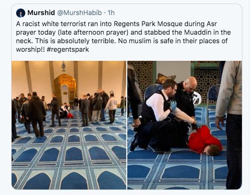 Londra, fedele musulmano accoltellato in moschea: arrestato