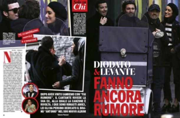Diodato e Levante 'pizzicati' a Milano