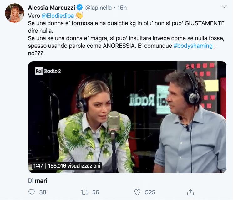 """Alessia Marcuzzi si scaglia contro Marco Masini: """"Ha ragione"""