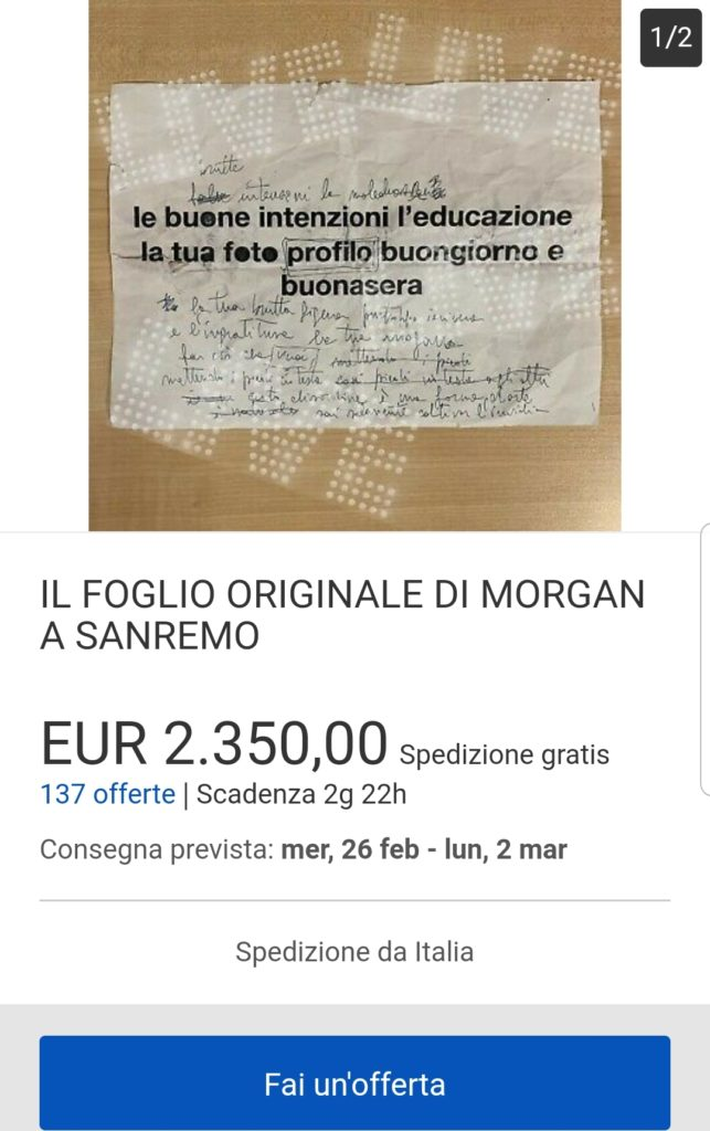 foglio morgan ebay