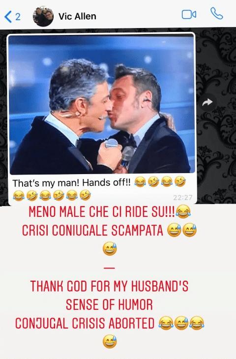 tiziano ferro marito bacio