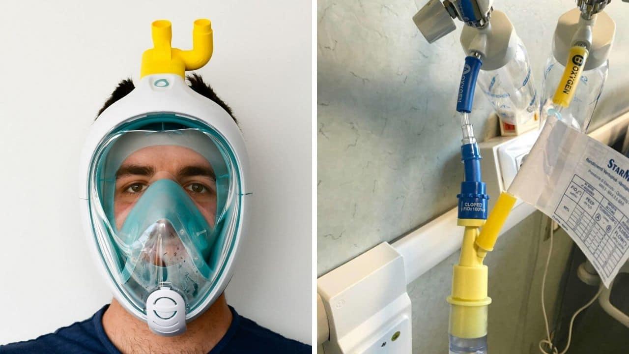 modifica: da maschera snorkelin a respiratore