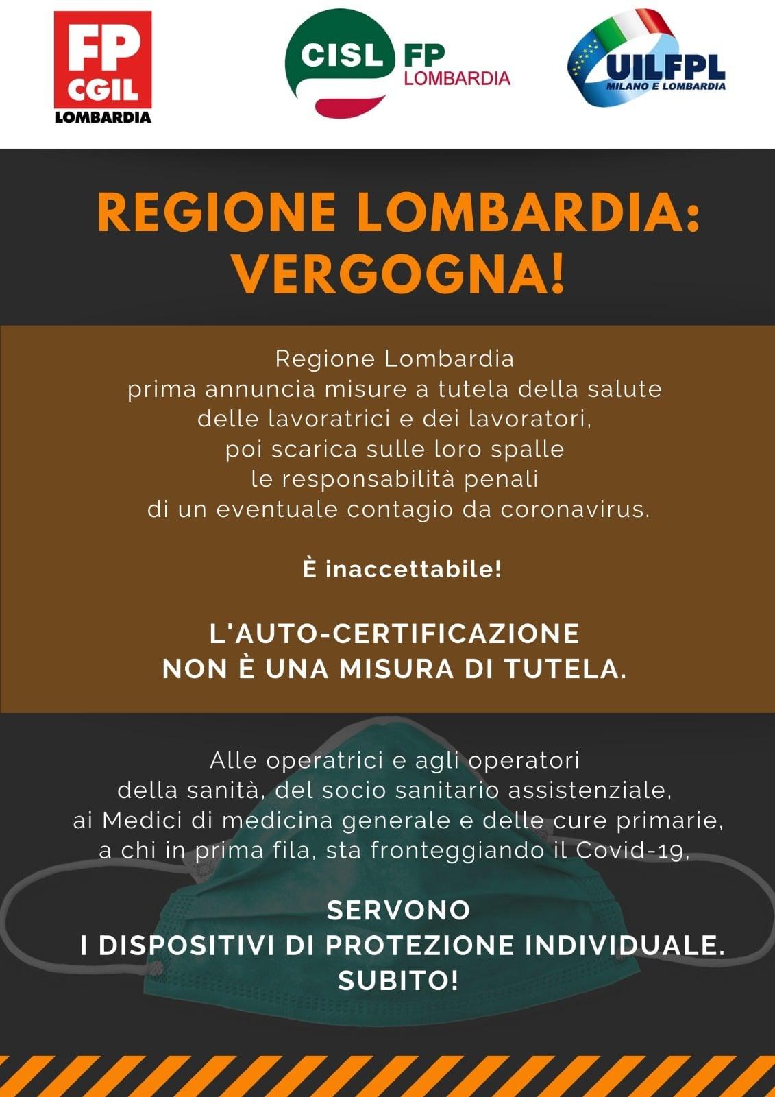 sindacati regione lombardia