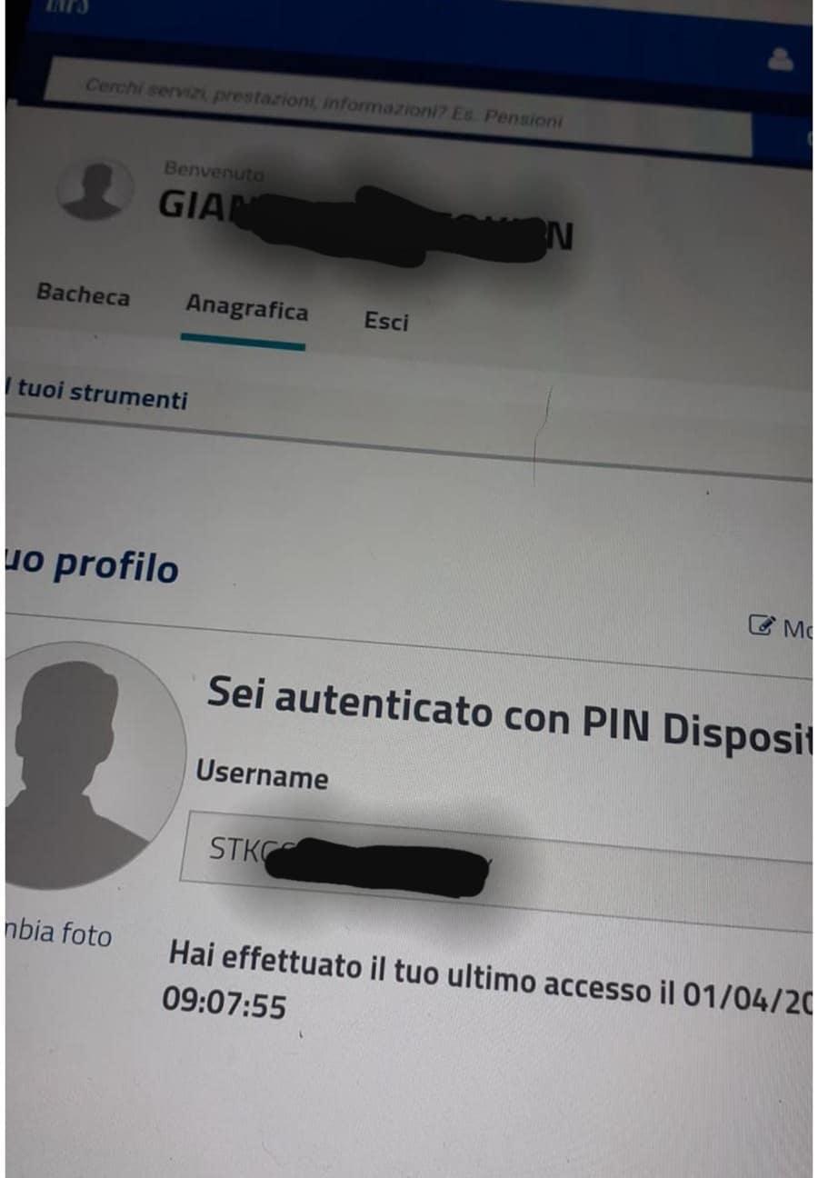sito inps privacy