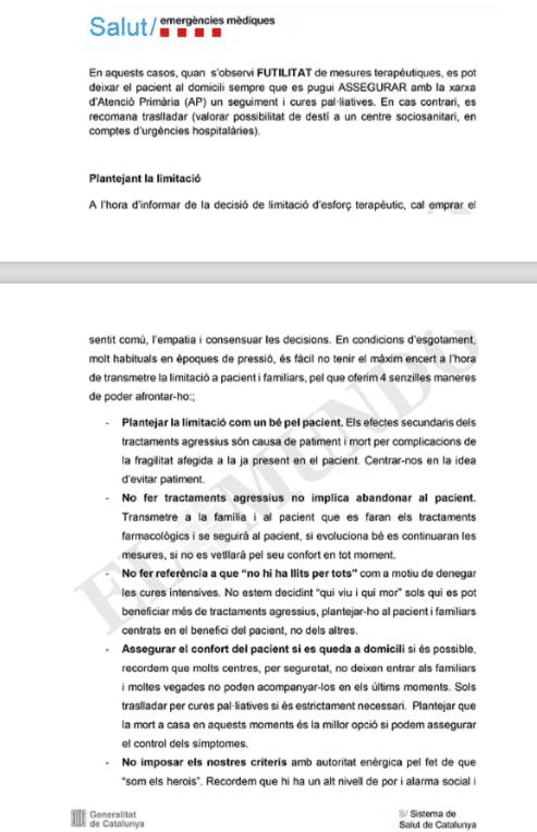 """Coronavirus, la Catalogna sceglie chi intubare e chi no: """"80"""