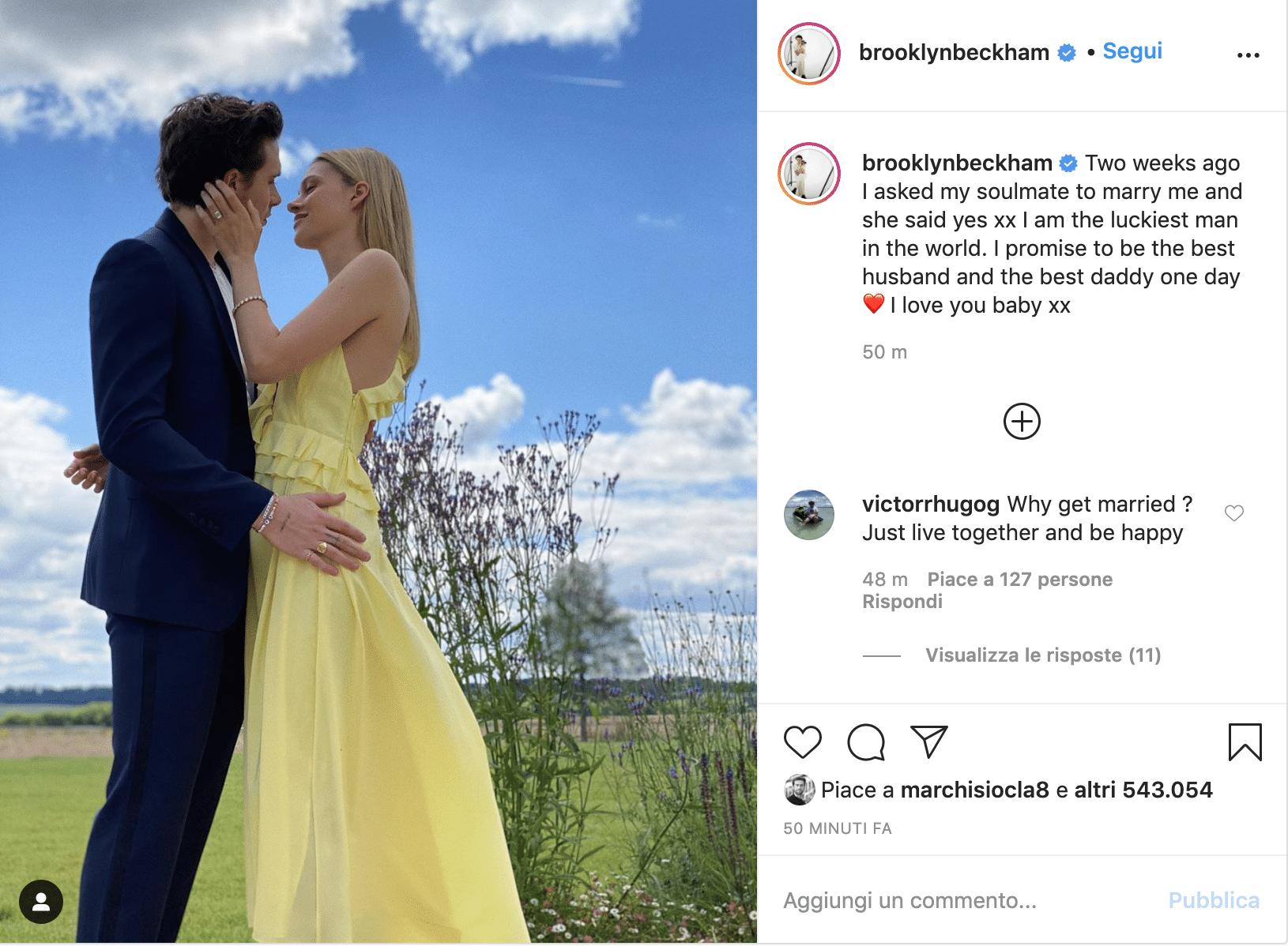 Brooklyn Beckham sposa Nicola Peltz