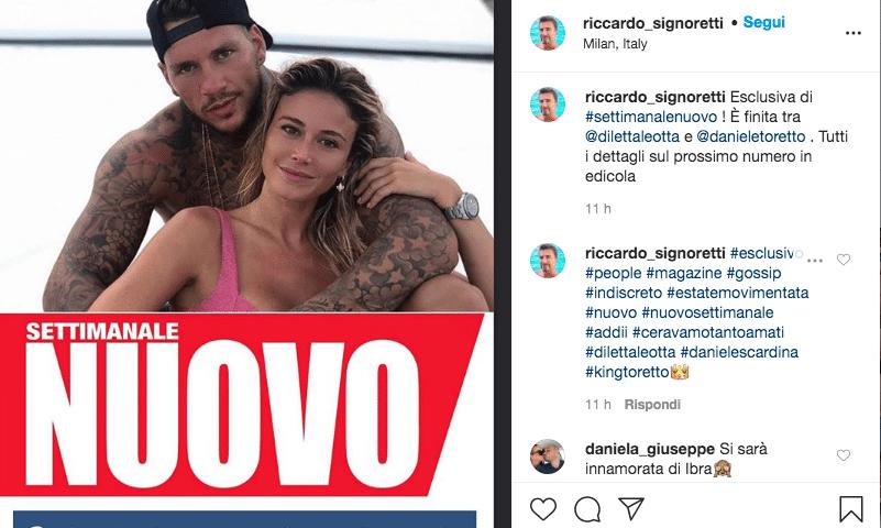 """""""Diletta Leotta torna single? Finita la storia con Daniele S"""