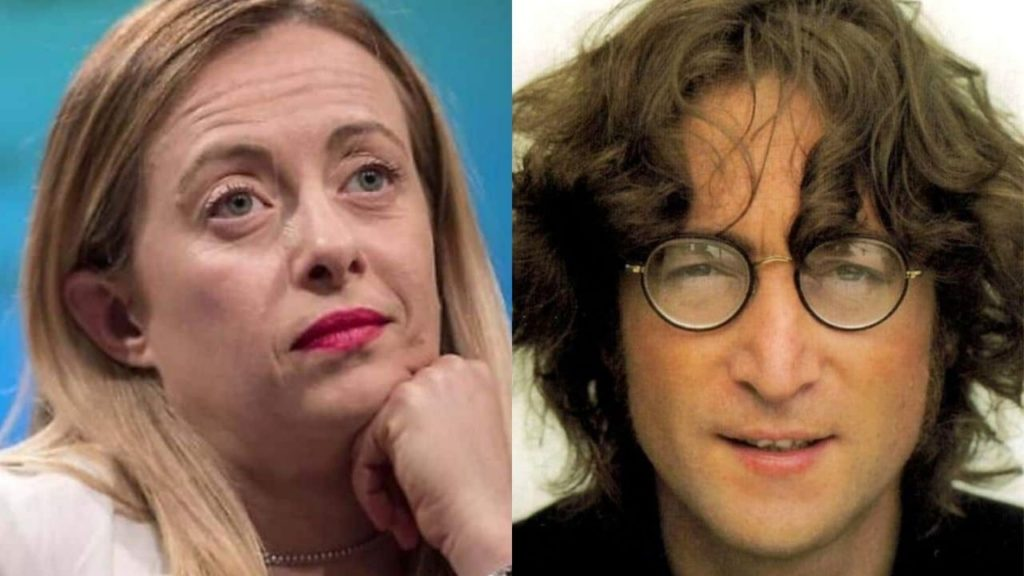 """Giorgia Meloni: """"Imagine di John Lennon parla di un mondo senza ..."""