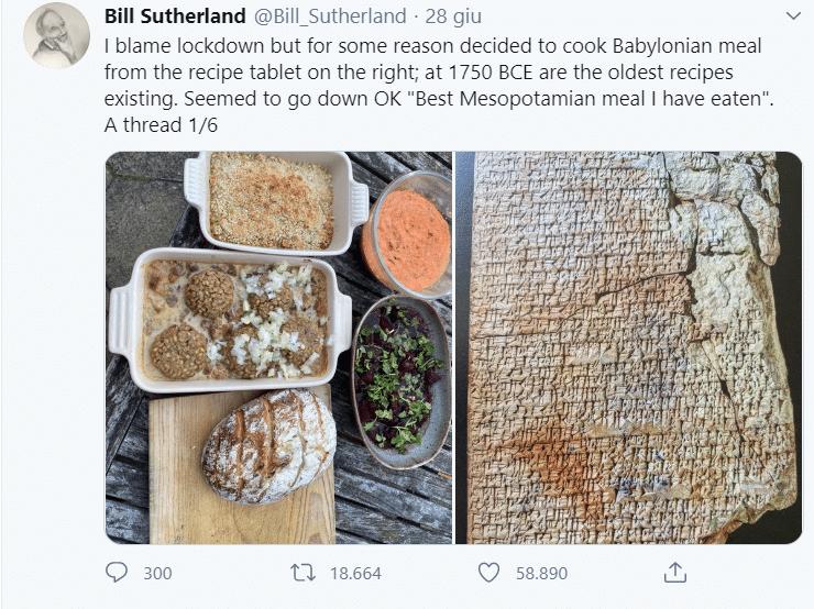 Cucina ricette babilonesi di 4.000 anni fa: lo strabiliante