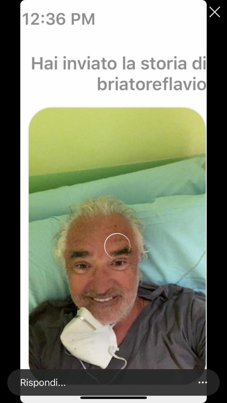 briatore ospedale foto instagram
