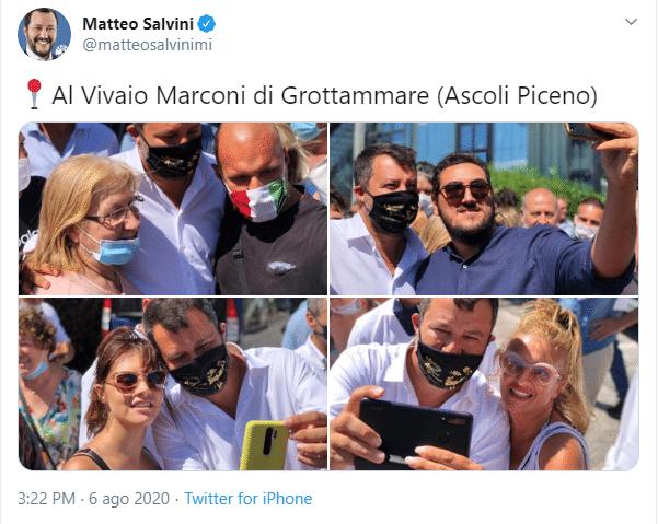 """""""Memento audere semper"""": il motto coniato da D'Annunzio sulla mascherina di Salvini"""