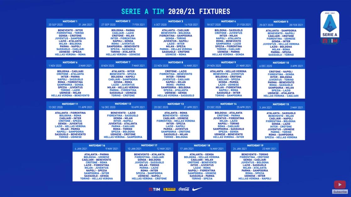 Calendario Serie A 2020 2021 del Milan: tutte le partite dei rossoneri