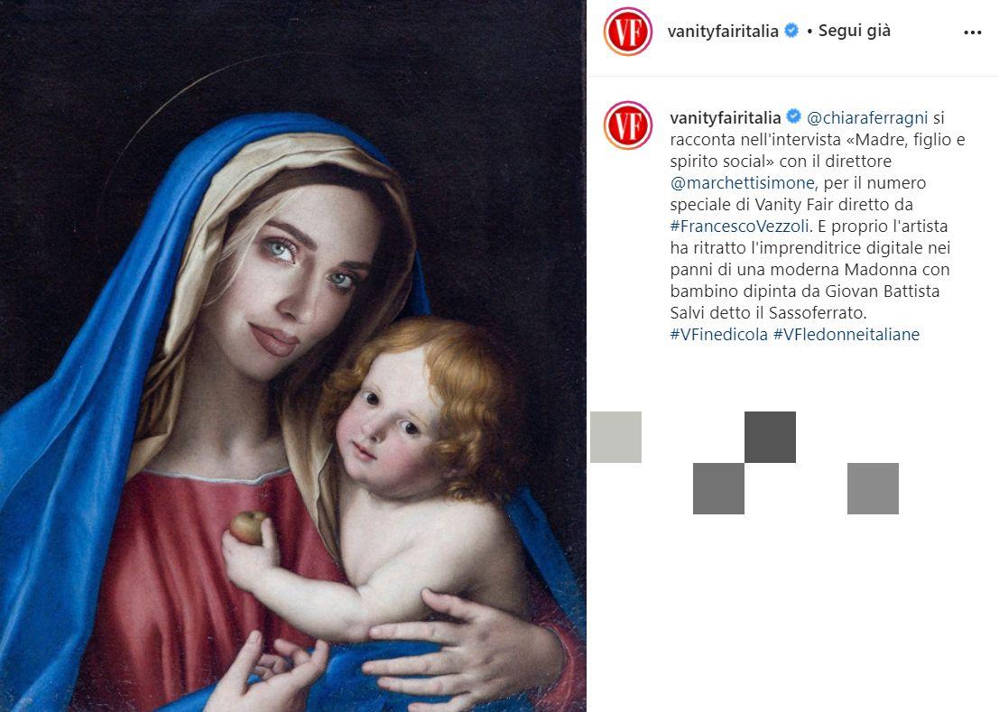 Chiara Ferragni raffigurata come la Madonna: scoppia un'altra polemica