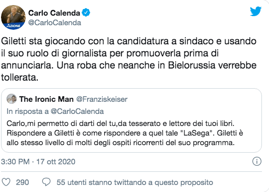 """Calenda contro il Tg1: """"Agenzia creativa di spot al servizio di Conte. Montaggi in stile napoleonico"""" (Video)"""