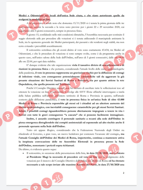 esposto elezioni medici roma