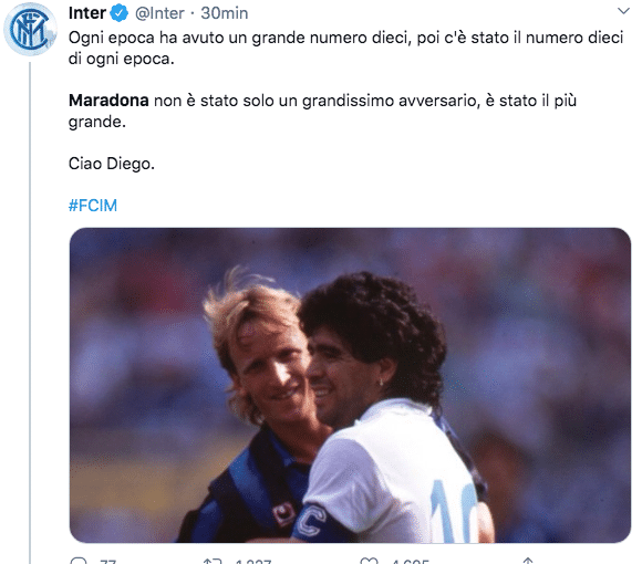 Maradona inter