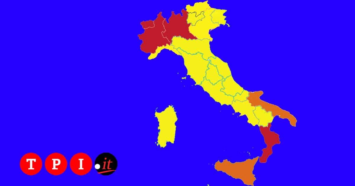 covid regioni arancioni
