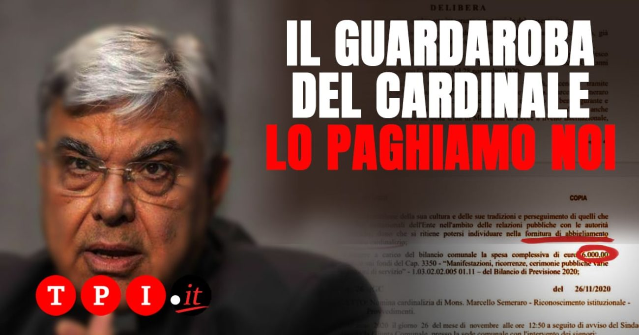 Vaticano, il successore di Becciu? Si fa l'abito da cardinale da 6mila euro pagato coi soldi pubblici