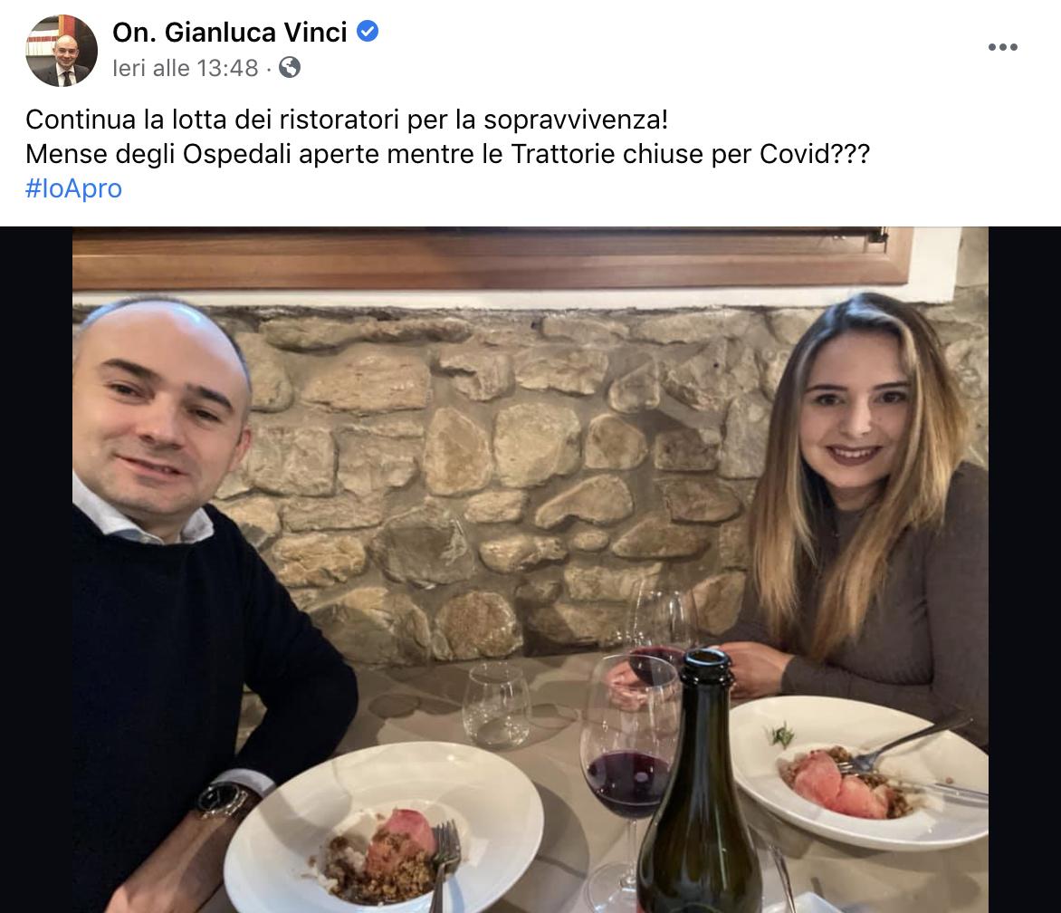 deputato lega ristorante