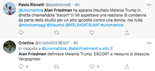 Alan Friedman, l'assurdo attacco a Melania Trump. E nessuno lo blocca…