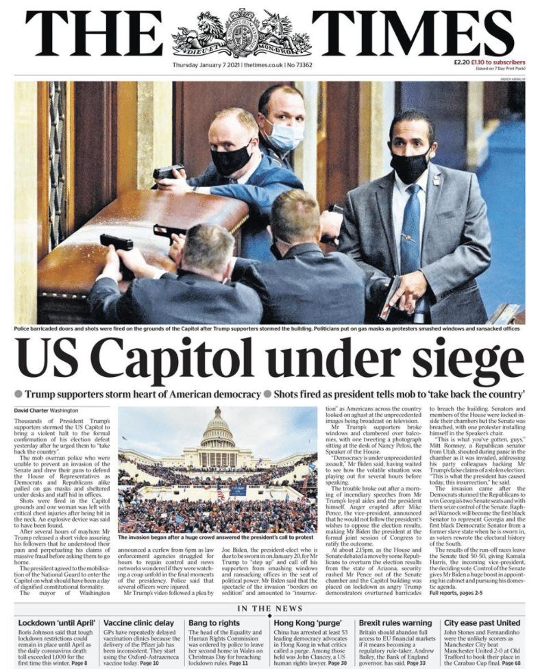 congresso usa prime pagine giornali mondo