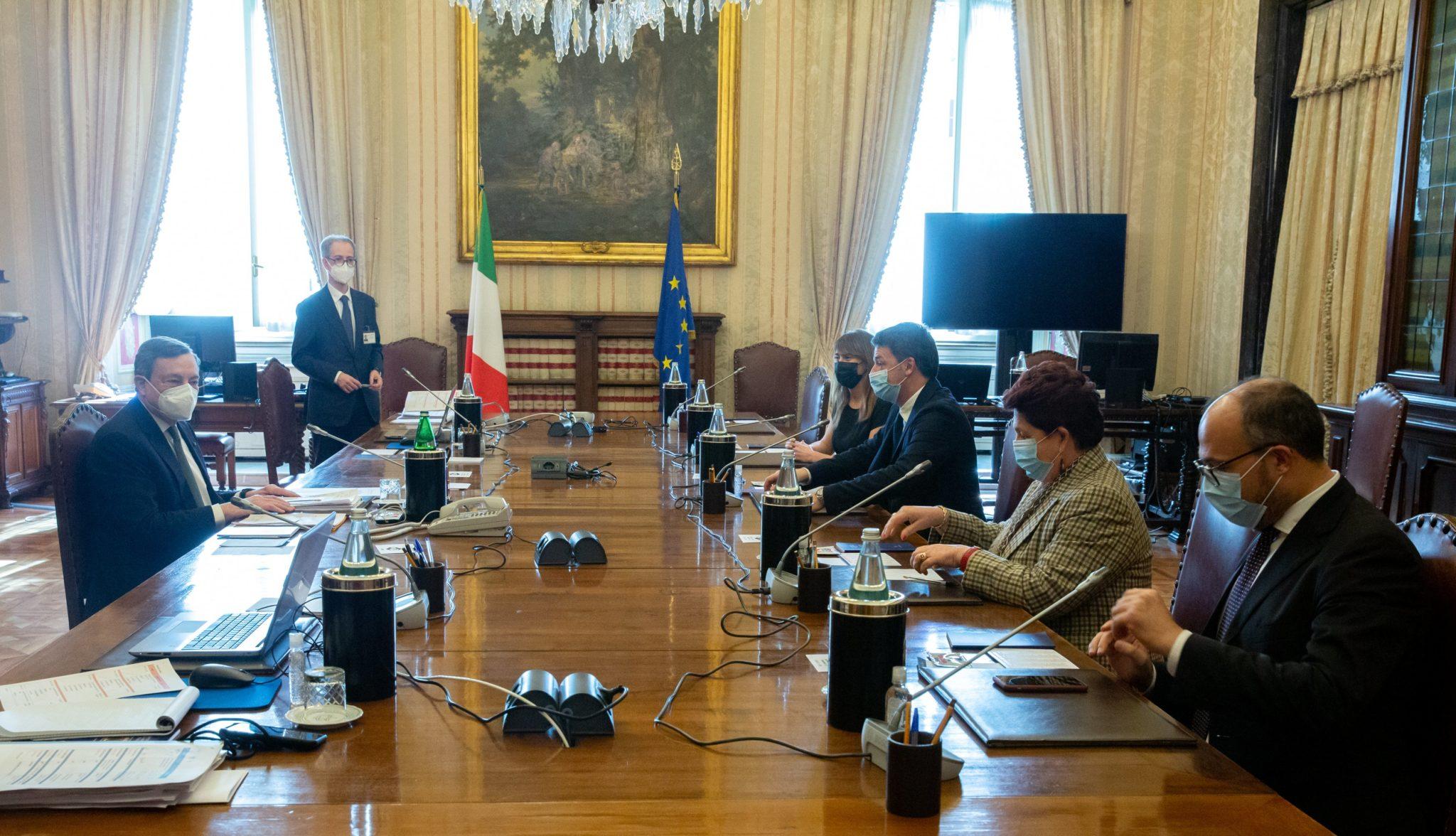 consultazioni draghi italia viva diretta
