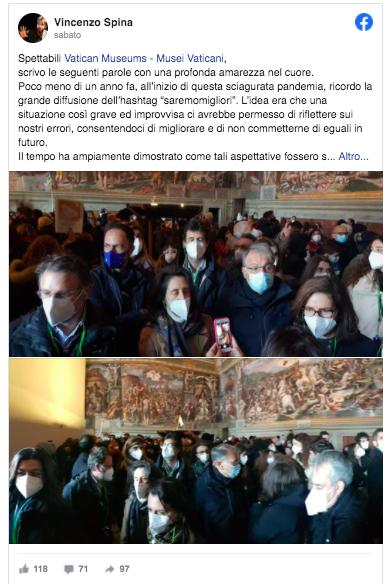 assembramenti musei vaticani