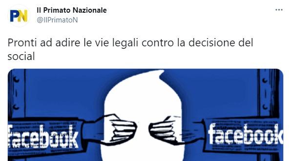 primato nazionale facebook