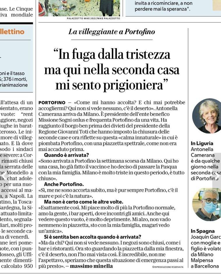 repubblica intervista contessa portofino