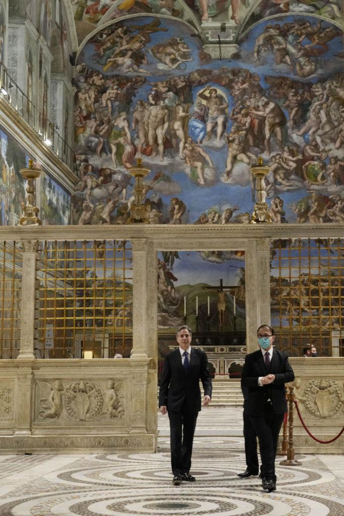 Blinken arriva in Vaticano, visita Cappella Sistina