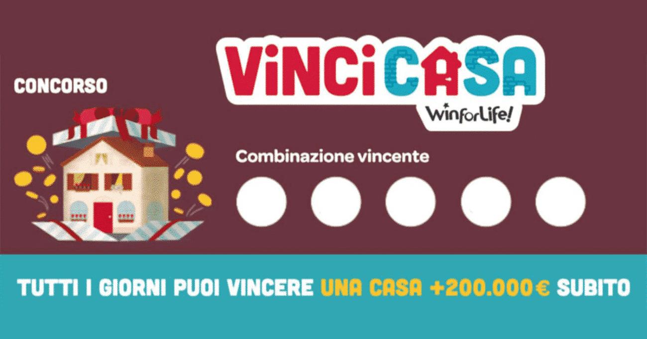 Estrazione VinciCasa: i numeri vincenti estratti oggi 16 giugno 2021