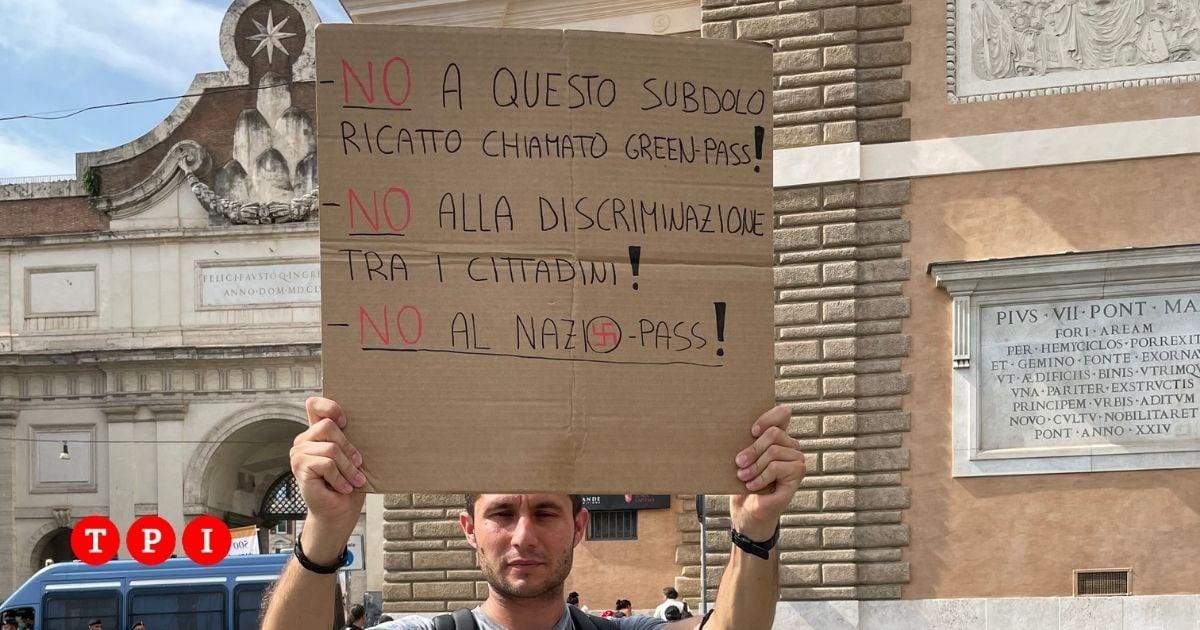 manifestazione no vax roma