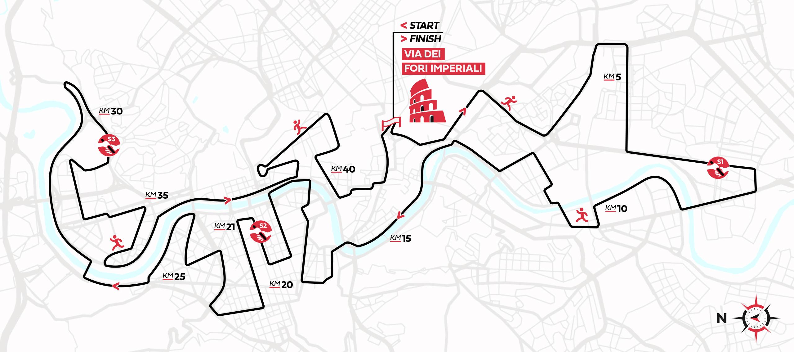 percorso maratona di roma 2021